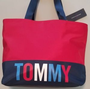 NWT Tommy Hilfiger Tote Casual Style Nylon Street